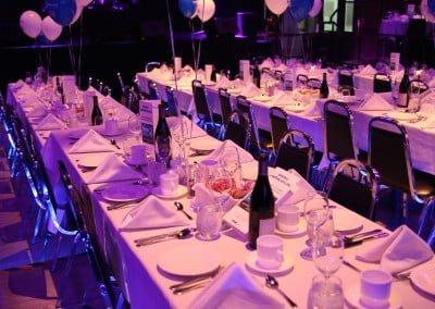 Tables et évènement corporatif
